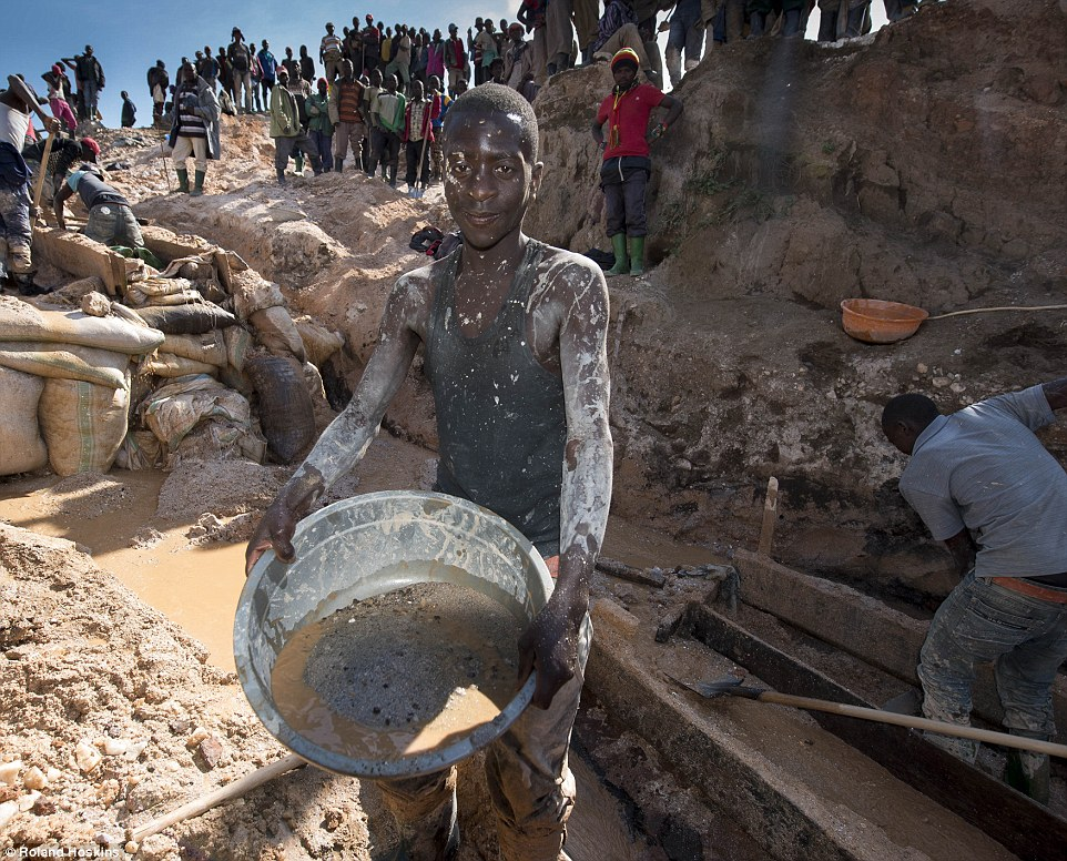 african mining slave