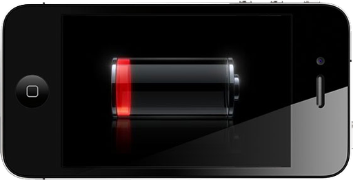 iphone with dead battery