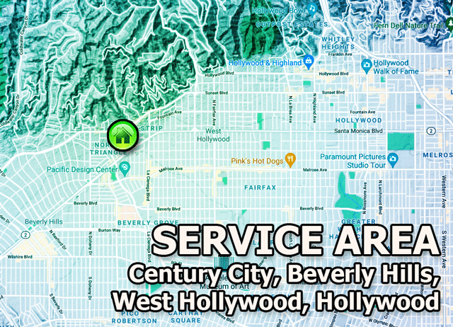 near me west hollywood computer repair service area