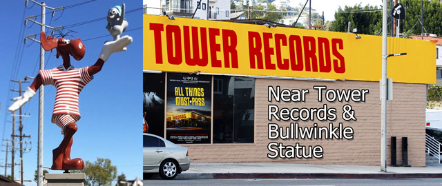 tower records bullwinkle statue sunset boulevard west hollywood
